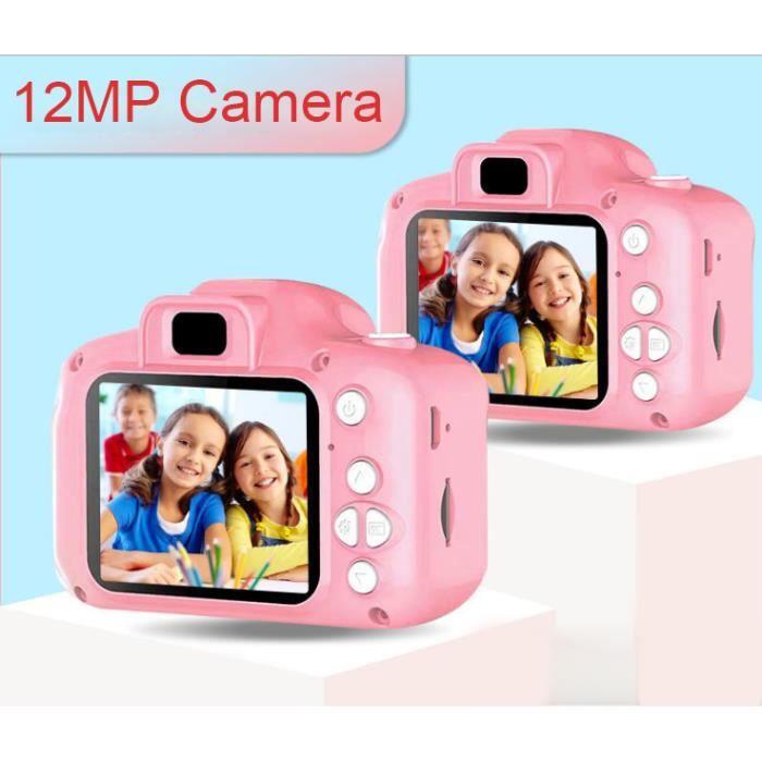 Appareil Photo Pour Enfants, écran ISP de 2,0 Pouces, 12MP / 1080P-Photo / Vidéo / Game-Mini SLR-Rose (Sans Carte TF)