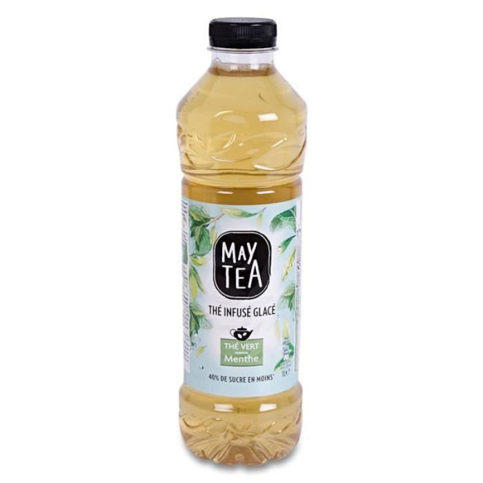 MAY TEA Thé vert infusé glacé saveur Menthe - 1 L