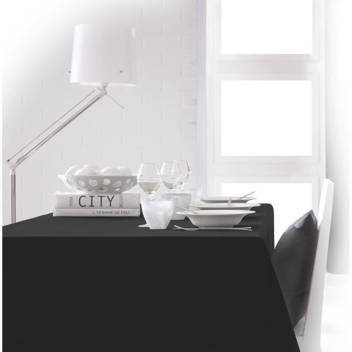 TODAY Nappe rectangulaire 140x200 cm - Noir réglisse