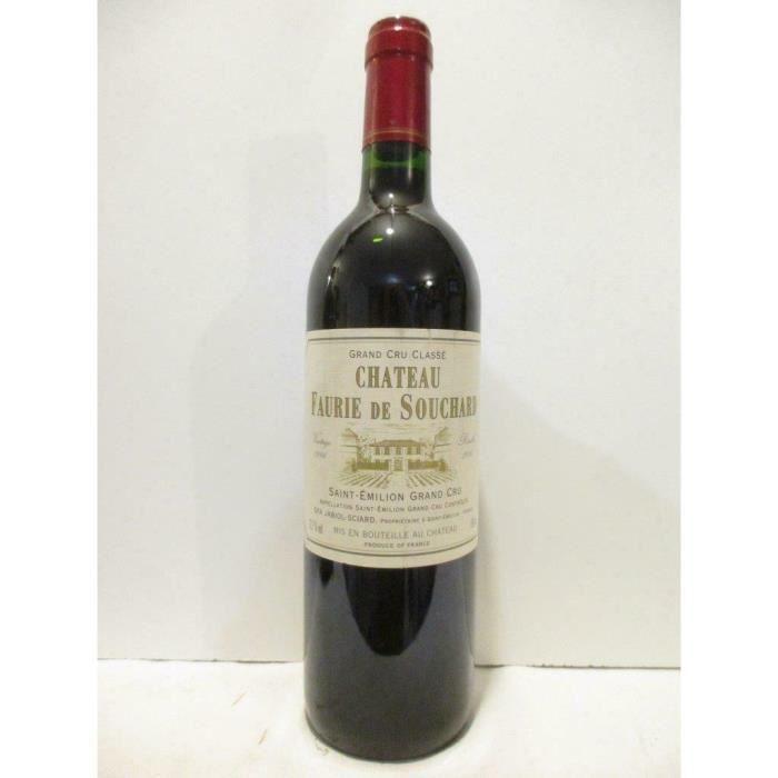 saint-émilion château faurie de souchard grand cru classé rouge 1996 - bordeaux