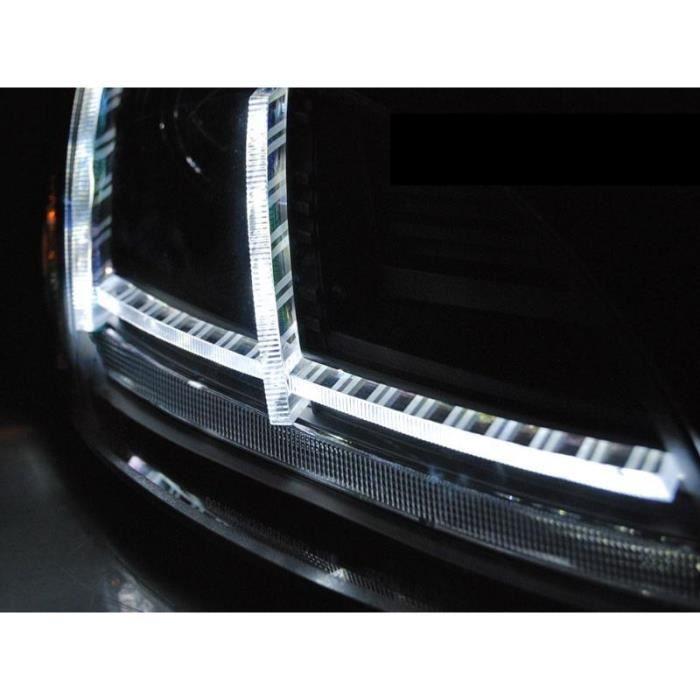 Paire de feux phares Audi TT 8J 2010-2014 Daylight led DRL Noir Xenon
