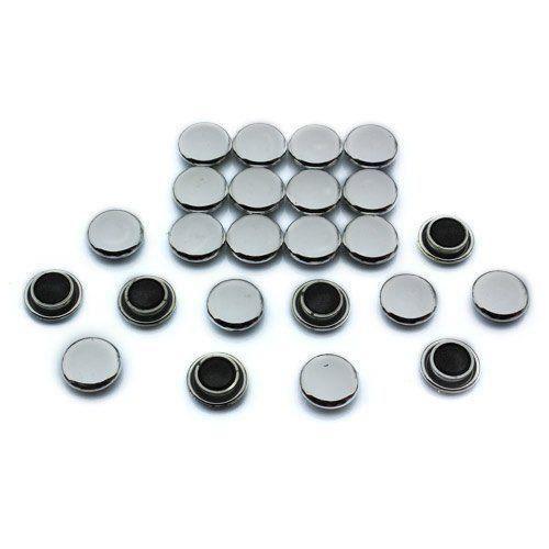 Magnet Expert Lot de 24 petits aimants pour tableaux et réfrigérateurs Argenté 20 x 7,5 mm