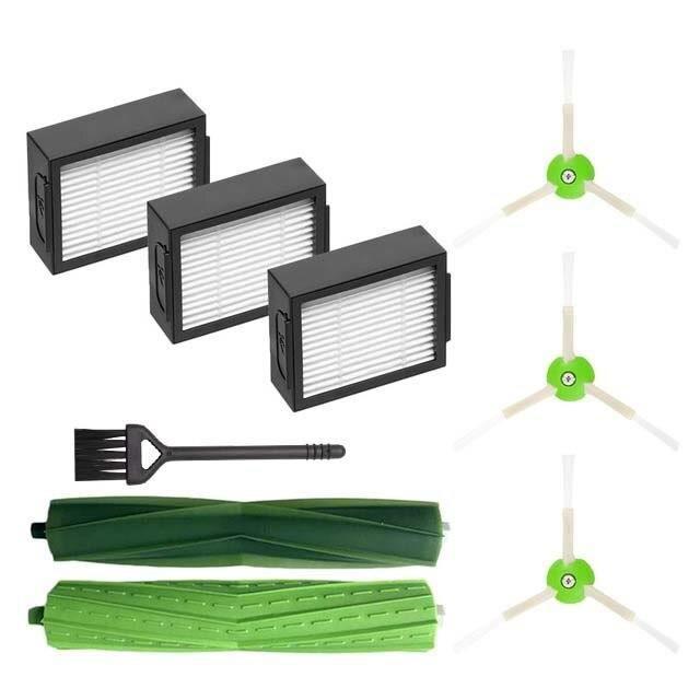 Kit d'accessoires pour aspirateur Robot iRobot Roomba i7 Plus E5 E6 I Series, brosses latérales à rouleau central, filtres Hepa