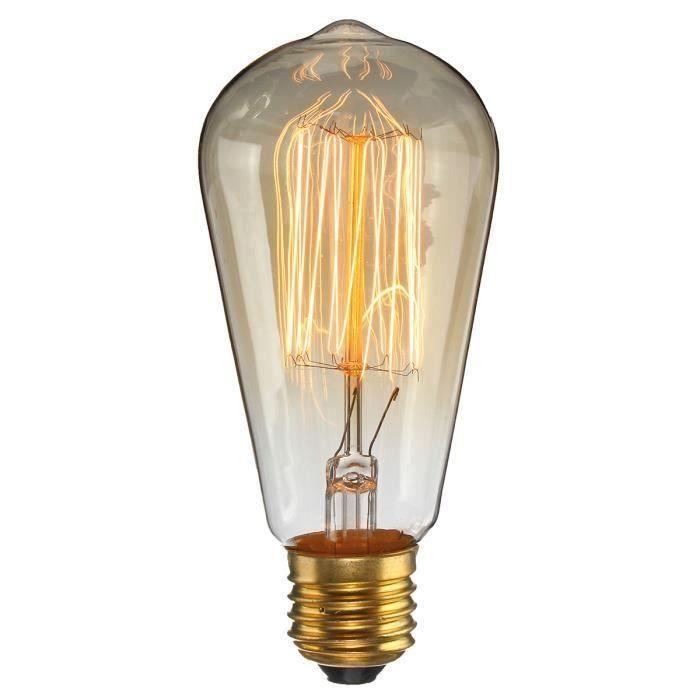 ST58 E27 Ampoule 60W Retro Edison AC220V Incandescent Ro04737