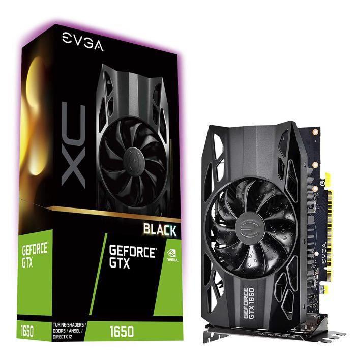 EVGA GeForce GTX 1650 XC Black Gaming, 4GB GDDR5, Carte Graphique 04G-P4-1151-KR