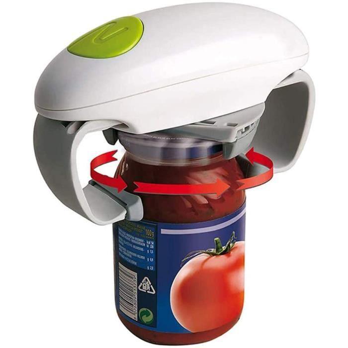 OUVRE-BOITE ELECTRIQUE Ouvre Bocal Automatique, One Touch Ouvre-bo&icirctes mains libres pour bocaux et contenants en verre O54