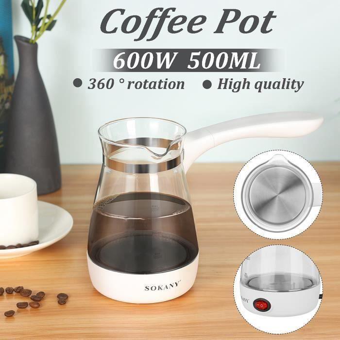 600W 500ml Cafetière électrique Grecque Turque Bouilloire Pot Bureau Domicile