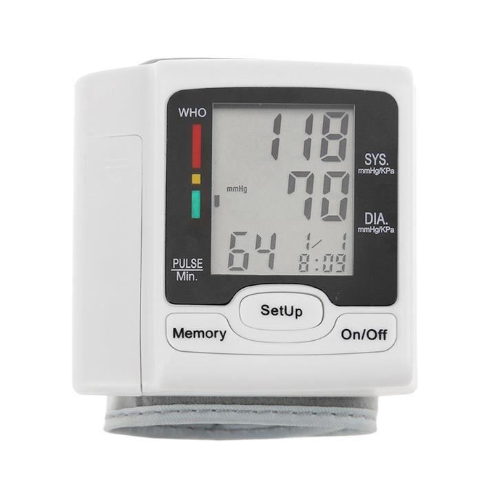 Poignet de tensiomètre automatique avec écran LCD, Tensiomètre électronique, sphygmomanomètrephygmomanomètre