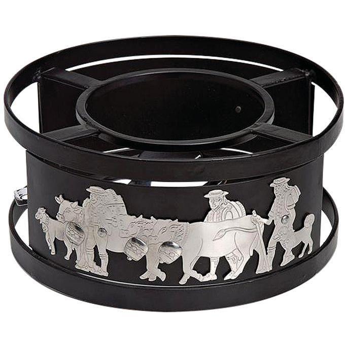 Réchaud à fondue Vaches D : 21 cm - inox