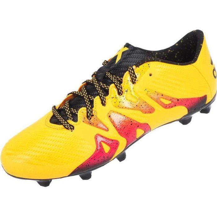 ADIDAS Chaussures de Foot pour terrain sec homme X 15.3 FG/AG - Orange