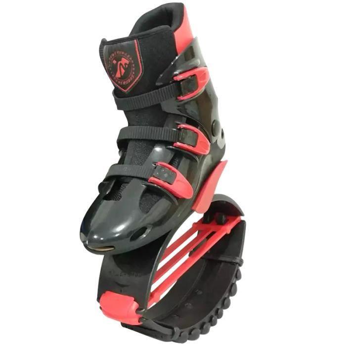 Chaussures Jump Chaussures Rebound Recommandé Poids 70-110kg (154lb-242lb) Chaussures Bounce XL / XXL pour Adulte - Noir/Rouge