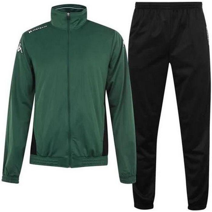 Jogging Kappa Homme Vert et Noir