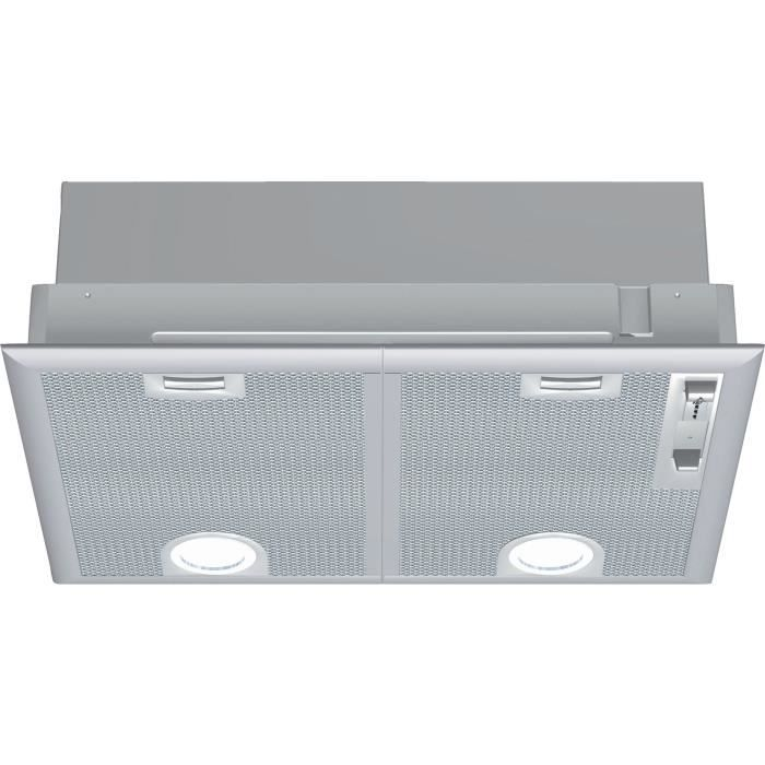 Groupe filtrant NEFF D5655X1 - Evacuation ou recyclage - 2 moteurs - 56 dB max - 618 m3 air / h - Inox