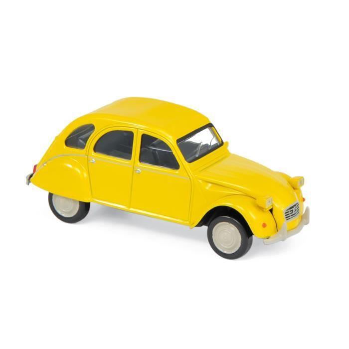 Miniatures montées - Citroen 2CV Jaune 1979 1/43 Norev