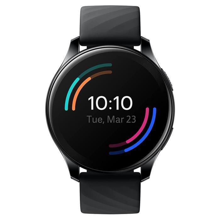 OnePlus Watch Montre Intelligente Bluetooth 5.0 avec autonomie de 14 Jours et résistance à l'eau 5ATM IP68 Noir
