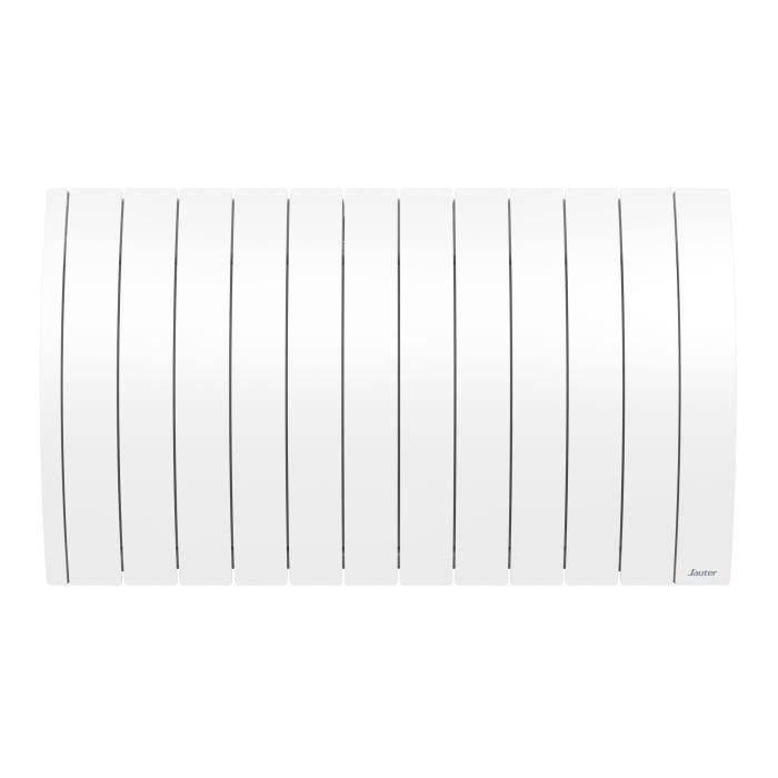 SAUTER Radiateur connecté à inertie Fluide Ipala - Horizontal - 2000W - Blanc
