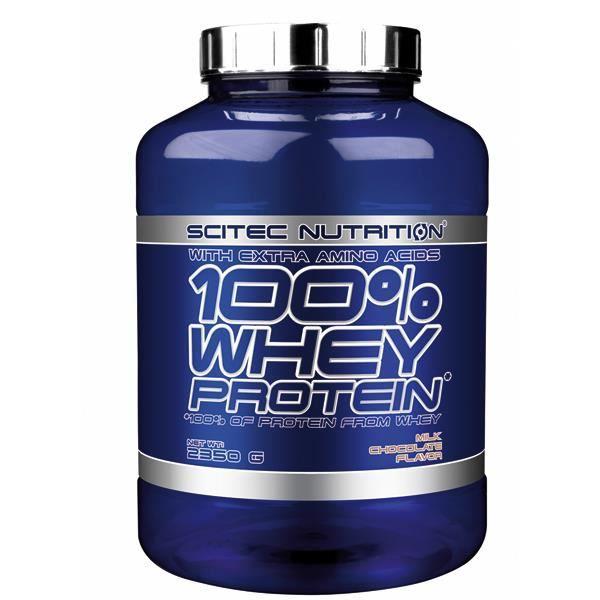 100% WHEY PROTEIN 2350g CHOCOLAT AU LAIT - Scitec Nutrition Proteine