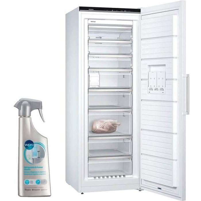 SIEMENS Congélateur armoire vertical blanc A+++ Froid ventilé 365L Autonomie 25h No-frost 78 Blanc