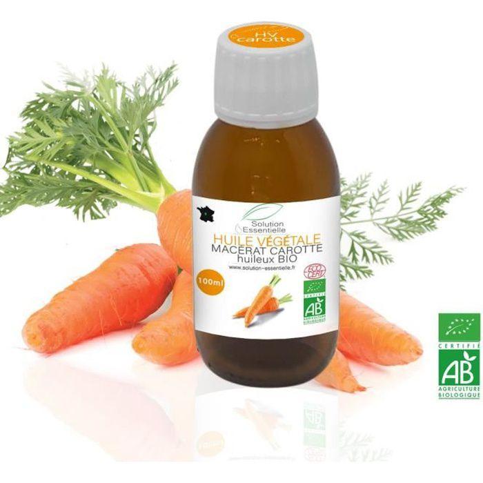 Huile Végétale BIO de carotte 100ml. Huile chémotypée ABLabel, Ecocert Bio 100 % Pure et Naturelle ENTREPRISE FRANCAISE