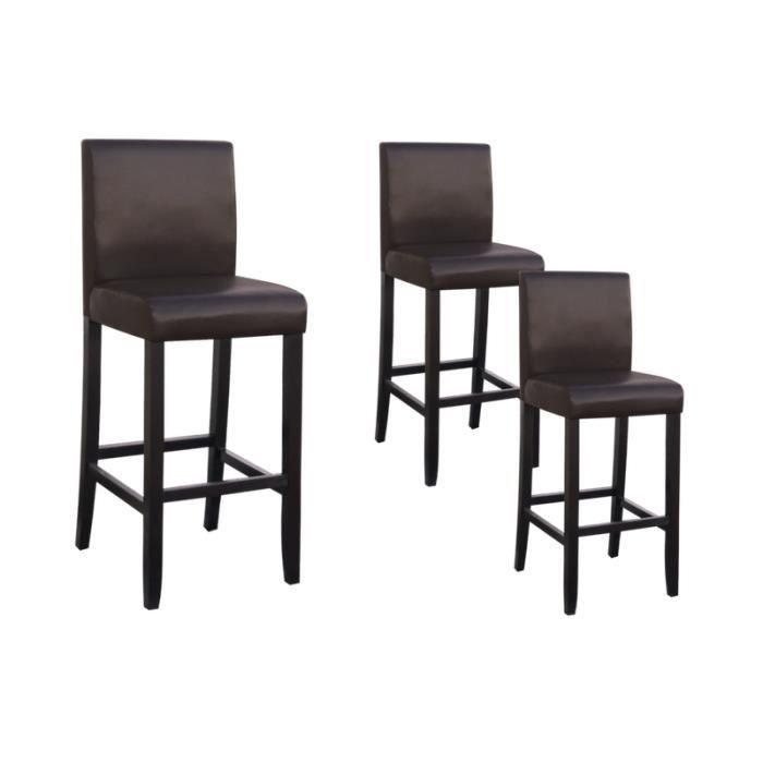 tenval lot de 3 tabourets de bar chocolat achat vente tabouret de bar marron cdiscount. Black Bedroom Furniture Sets. Home Design Ideas