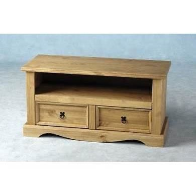 Table unit tv cran plat corona en bois naturel vieilli for Table pour tv ecran plat
