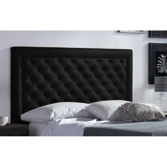 t te de lit pu marco couleur noir mesure lit de 90 cm de large achat vente t te de. Black Bedroom Furniture Sets. Home Design Ideas