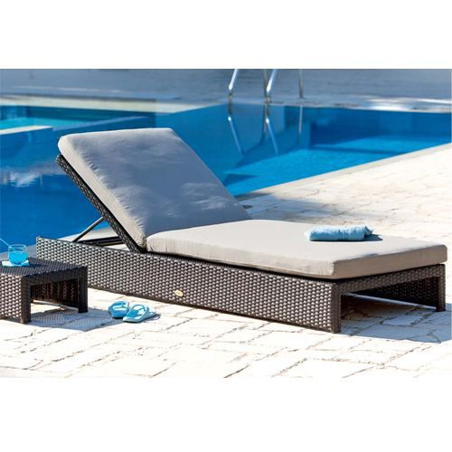 Lit de piscine simple lombok r sine tress e achat for Chaise pour piscine