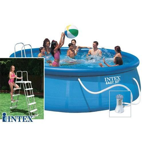 Piscine autostable intex 4 88 x 1 22 m achat vente kit for Piscine 22