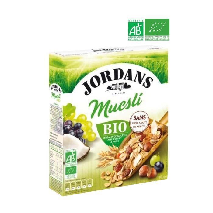 CÉRÉALES PETIT DEJ  Muesli bio 500 g Jordans