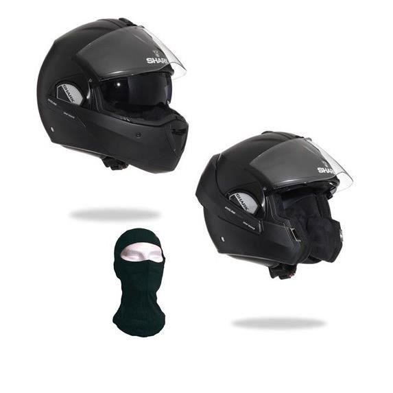 shark evoline casque modulable mat cagoule offerte achat vente casque moto scooter shark. Black Bedroom Furniture Sets. Home Design Ideas