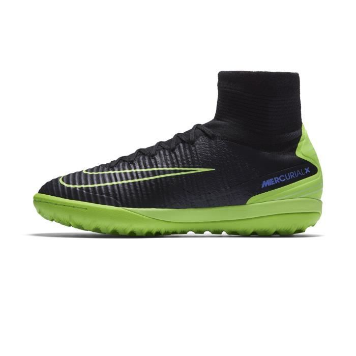 check out eb9fa 9433d Chaussures football Nike MercurialX Proximo II TF Noir Vert