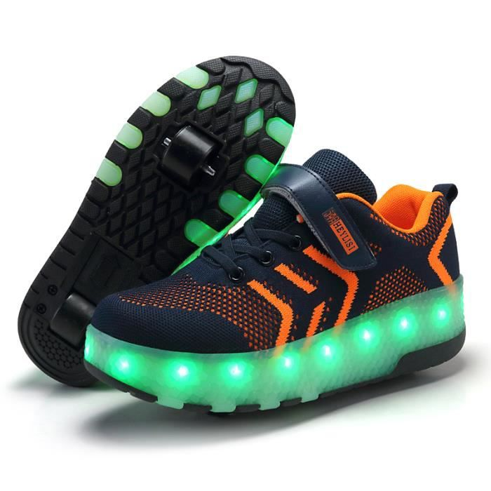 Baskets Enfants Chaussures LED USB Charge Skatesho