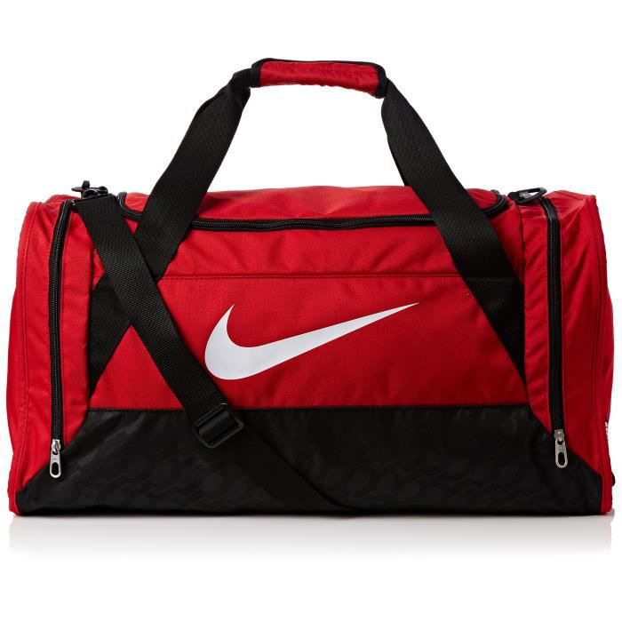 e687728aee Nike Brasilia - Sac de football, Homme, BRASILIA 6 MEDIUM DUFFEL, Rosso Gym  Red-Black-White, 61 x 32 x 30 cm