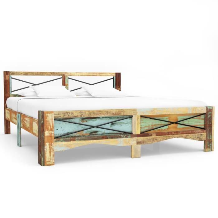 Cadre de lit bois 160x200