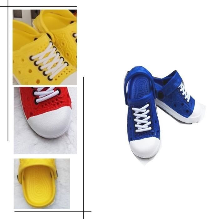 Cute Kids plage Chaussons unisexe rouge 22rouge 22 Sabots trou Chaussures