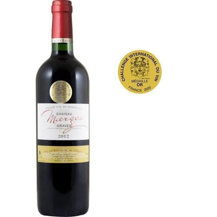 Château Marges 2012 Graves - Vin rouge de Bordeaux