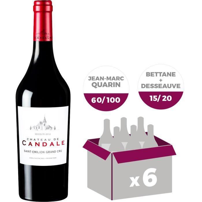 Château de Candale Saint Emilion Grand Cru 2012 - Vin rouge