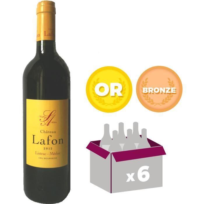 Château Lafon 2012 Listrac Médoc Cru Bourgeois - Vin rouge de Bordeaux