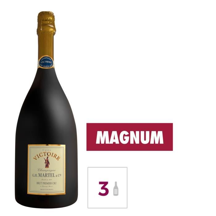 GH MARTEL Victoire 1er Cru Champagne Brut - Blanc - 1,5 l x 3