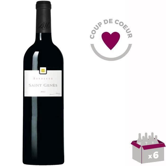 4 ACHETEES + 2 OFFERTES BERNARD MAGREZ Saint-Genès 2012 Bordeaux - Vin rouge de Bordeaux