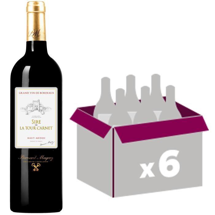 BERNARD MAGREZ Sire de la Tour Carnet Haut Médoc 2012 - Vin rouge - 75 cl x6