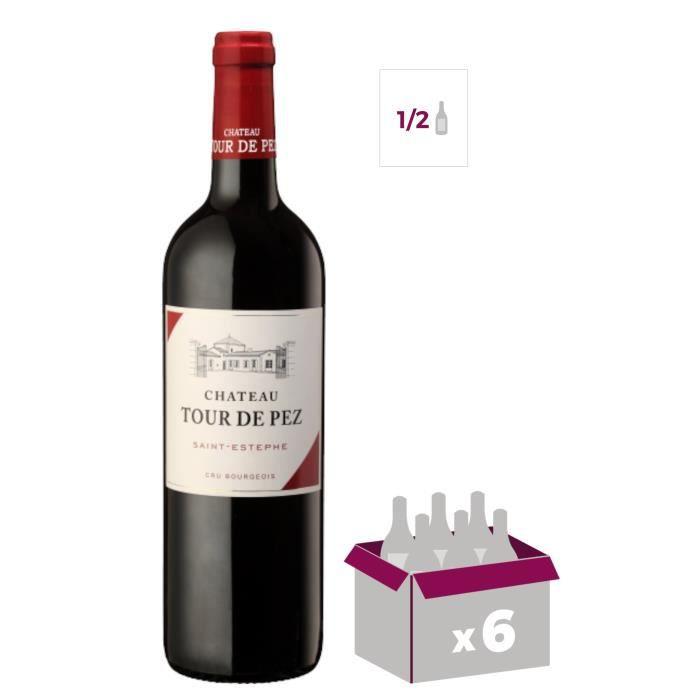 Demi-bouteille 37,5cl Château Tour de Pez 2012 Saint-Esthèphe - Vin rouge de Bordeaux