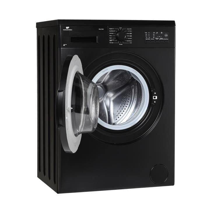 continental edison ll712b lave linge frontal 7kg a noir lave linge. Black Bedroom Furniture Sets. Home Design Ideas