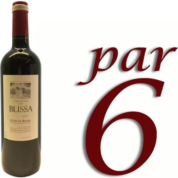 VIN ROUGE Château de Blissa 2012 Côtes de Bourg vin rouge x6