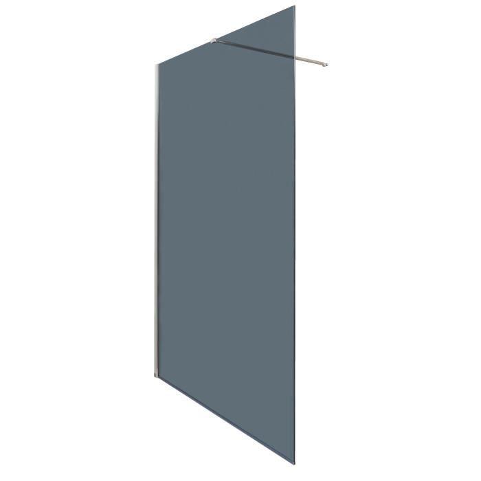 Aqua Paroi De Douche Italienne Fixe 120 Cm Verre Trempé 8 Mm
