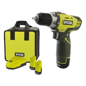 PERCEUSE RYOBI Pack Perceuse-visseuse + 2 Batteries - 25 Nm