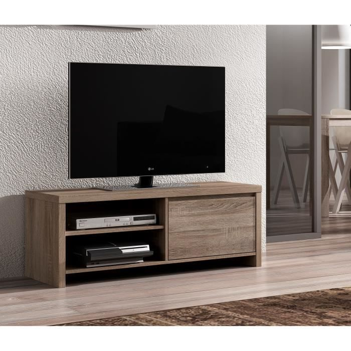 sven meuble tv 123cm d cor ch ne truffle achat vente meuble tv sven meuble tv 1porte 2niches. Black Bedroom Furniture Sets. Home Design Ideas