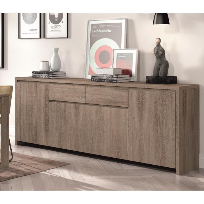 sven buffet 230cm d cor ch ne truffle achat vente. Black Bedroom Furniture Sets. Home Design Ideas