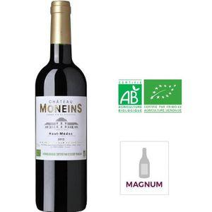 VIN ROUGE Magnum Château Moneins 2012 Haut Médoc -Vin rouge