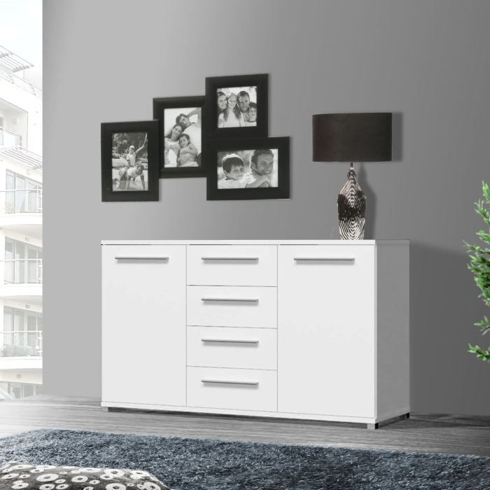 artic buffet bas blanc 149cm achat vente buffet. Black Bedroom Furniture Sets. Home Design Ideas
